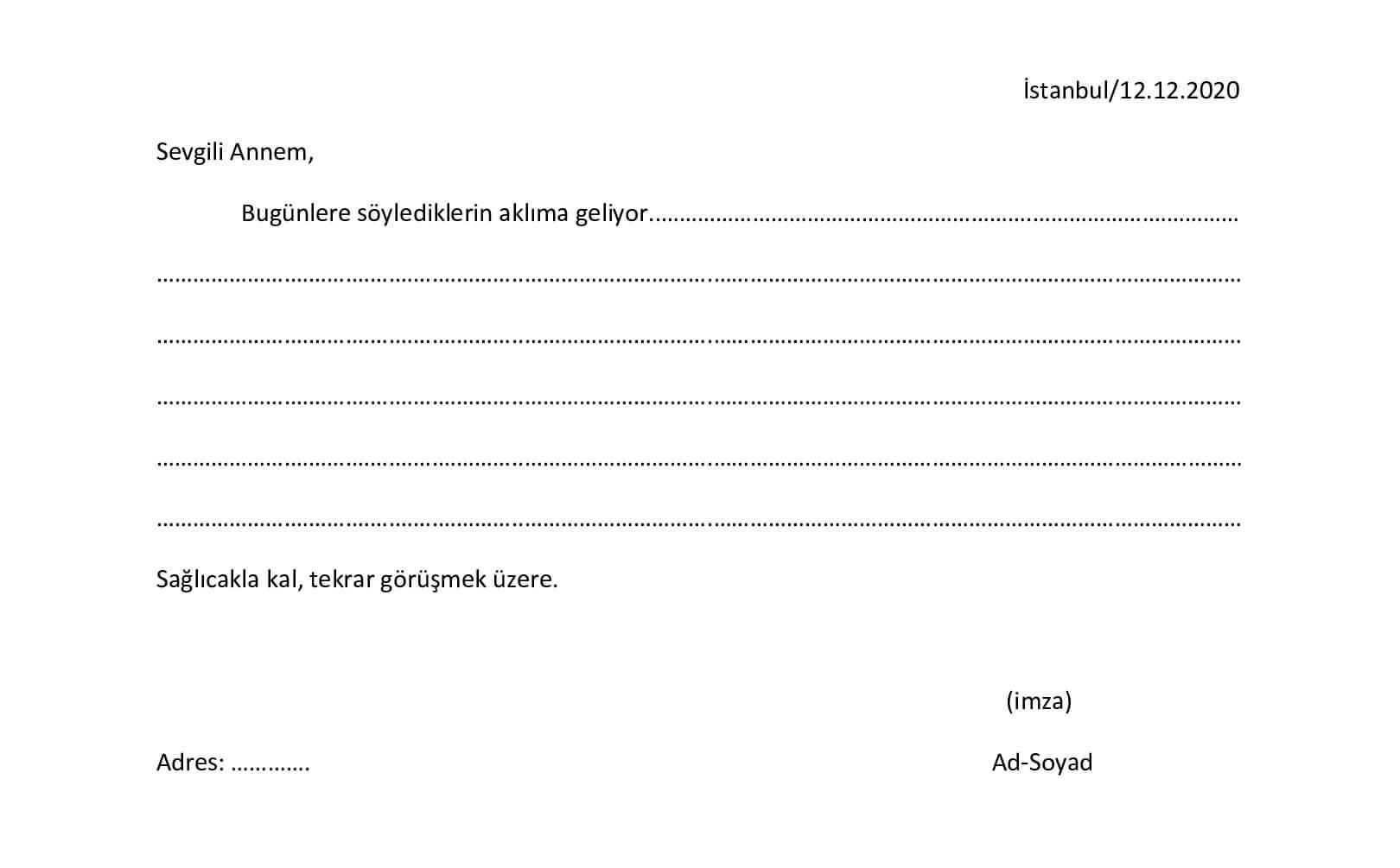 mektup özellikleri